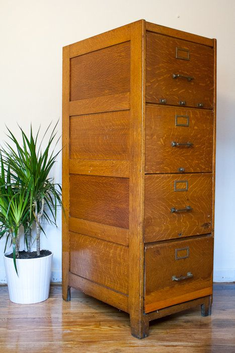 Antique Wood File Cabinet, 1910 Vintage Industrial in Clearing, Chicago ~  Apartment Therapy Classifieds - Antique Wood File Cabinet, 1910 Vintage Industrial In Clearing