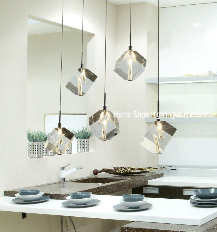 Modern Hanging Lamp Pendant Dining Room Lighting 5 Light Mini Bar