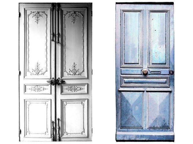 portes papier peint imitation bois Pinterest