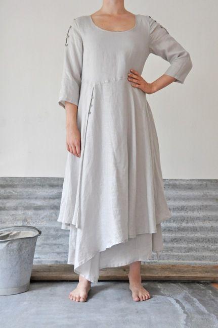 512569d198a5 Linne Klänningar, Designer Klänningar, Koreansk Stil, Klänning Kjol