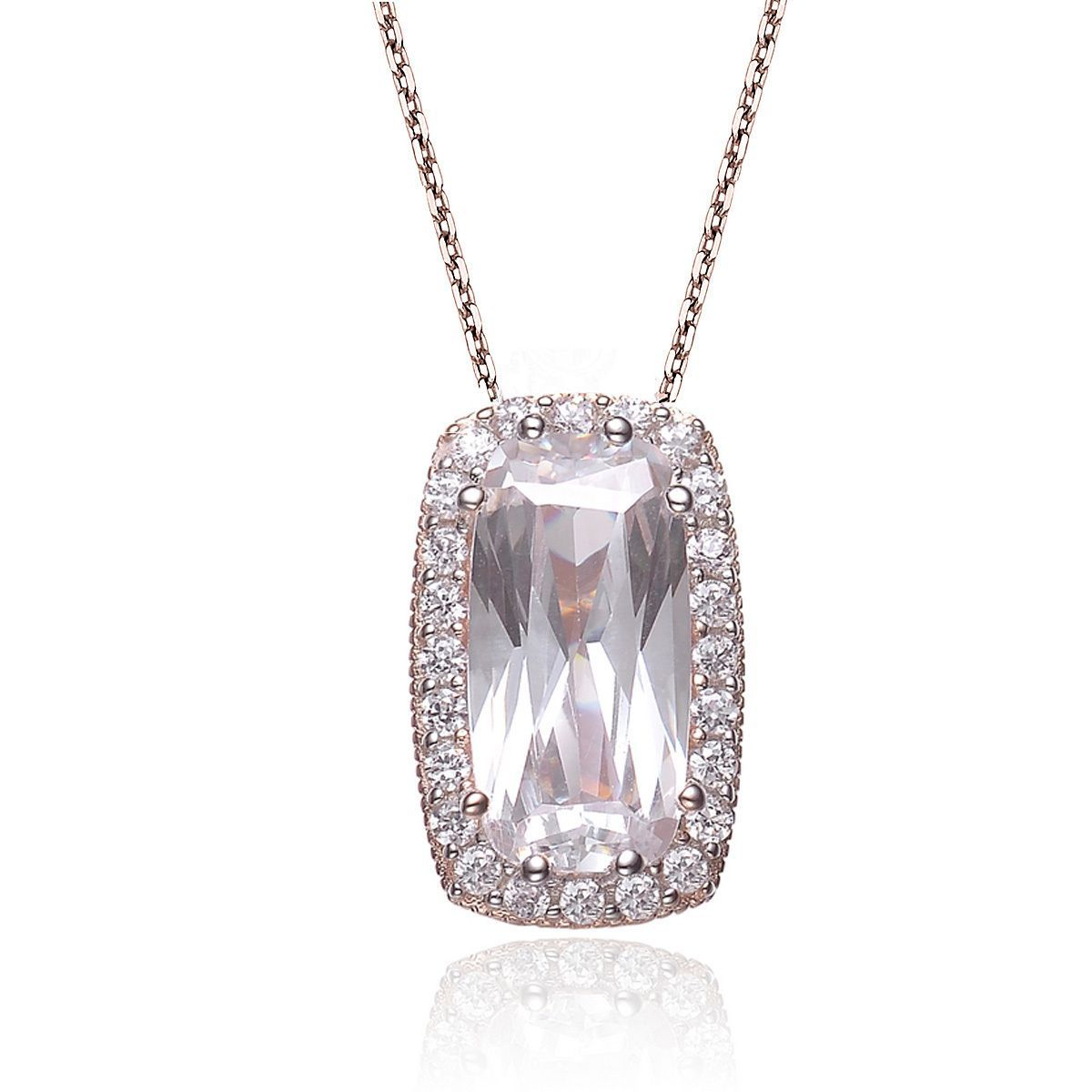 Collette Z Rose Goldplated Sterling Silver Cubic Zirconia Shape Necklace