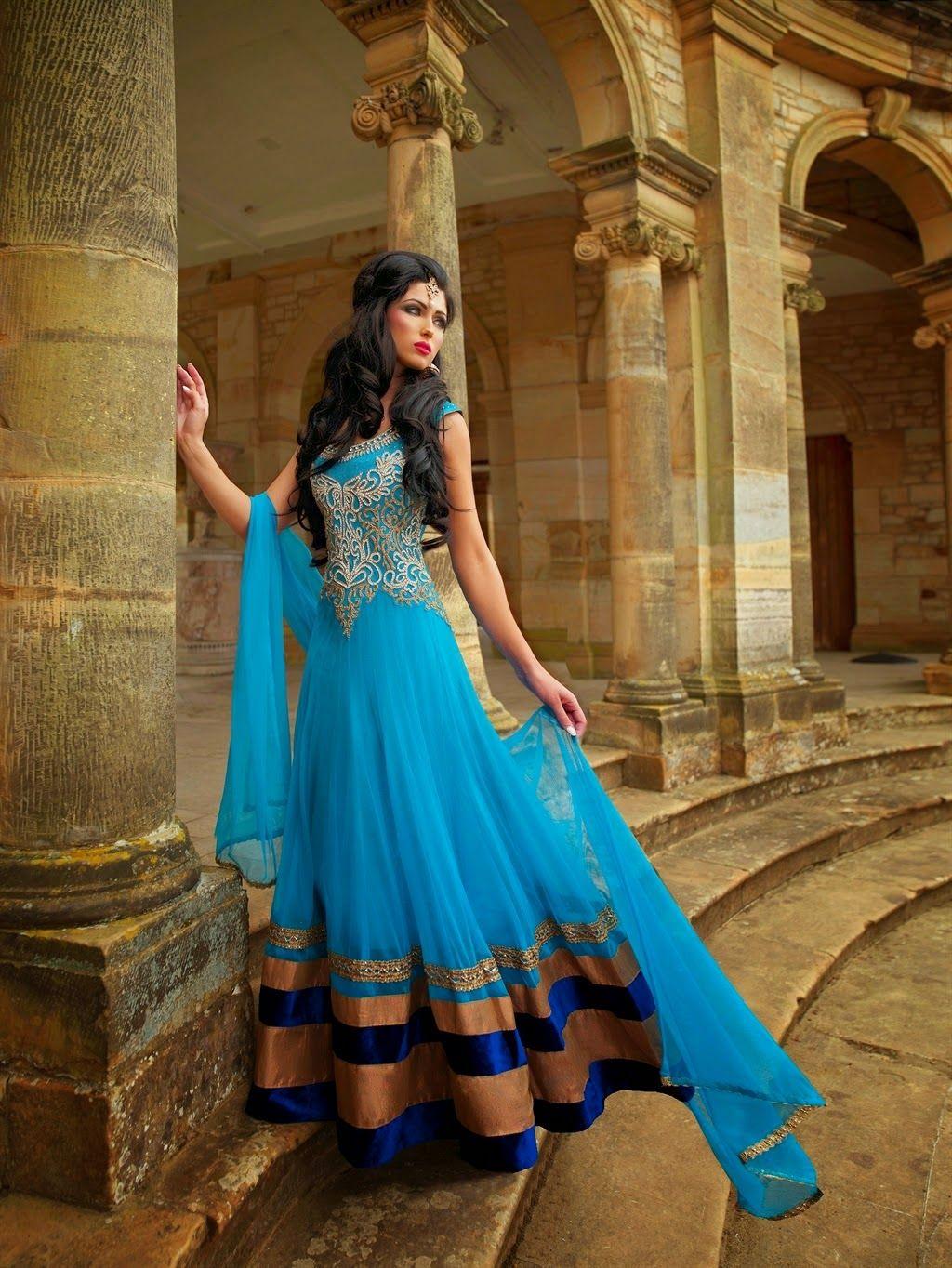 floor-length anarkali - Google Search | Indian Dresses | Pinterest ...