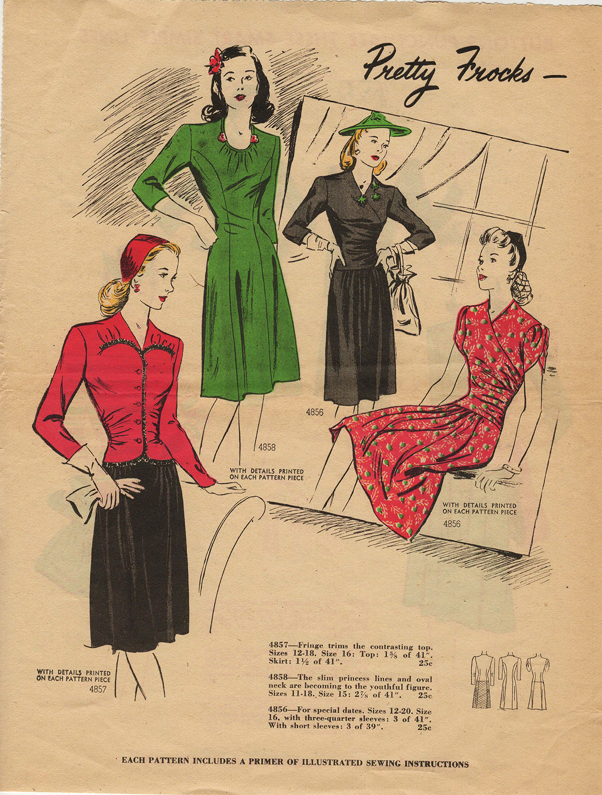 The Closet Historian: Prevue Simplicity January 1944