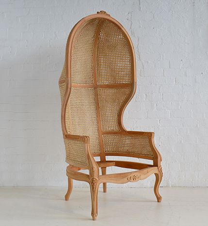 Rattan Porters Chair by Hidden Mill. Available in any colour and any fabric! www.hiddenmill.com