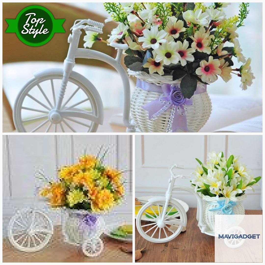 Bike Flower Basket Vase Decor  #decoration #homedecor #homedecorstore #luxuryhomes #homestuffs #homedecortip #luxuryhome #homeshop #homegood #luxuryhomedecor