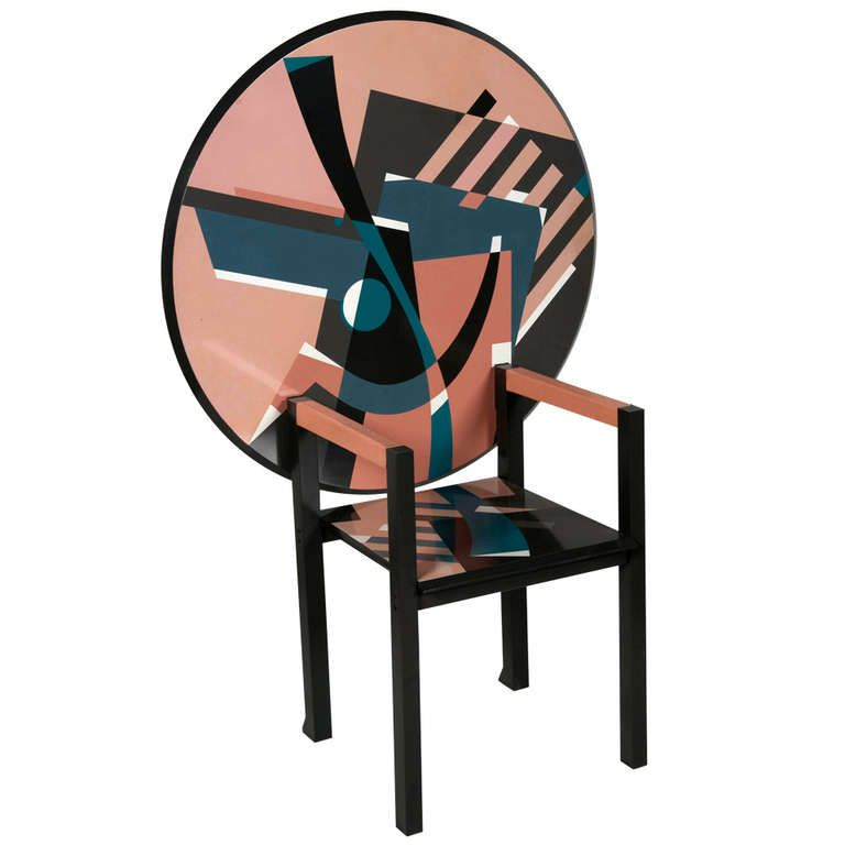 Mendini Zabro Chair Table 1stdibs Com Center Table Chair Furniture