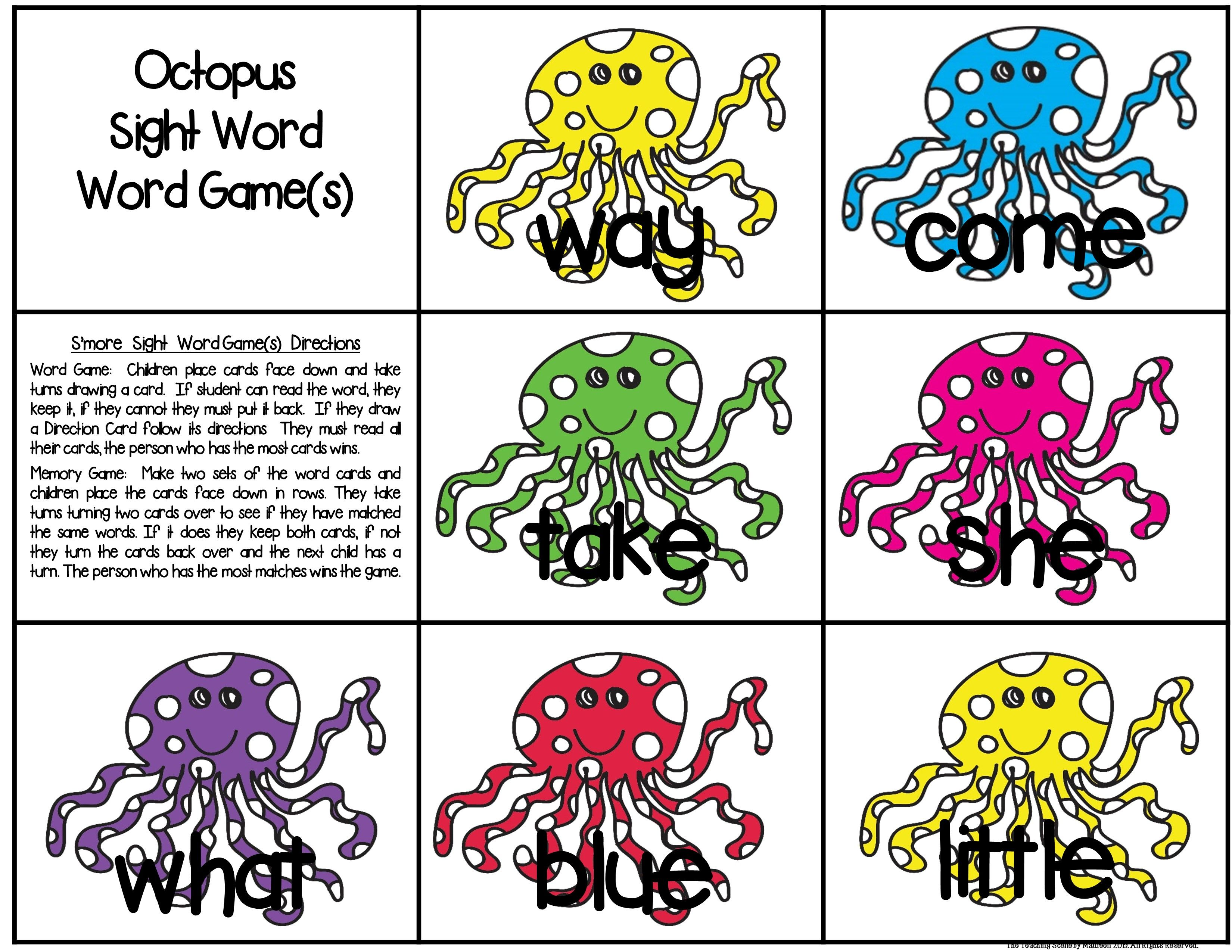 Octopus Unit Ocean Theme Centers Amp Activities