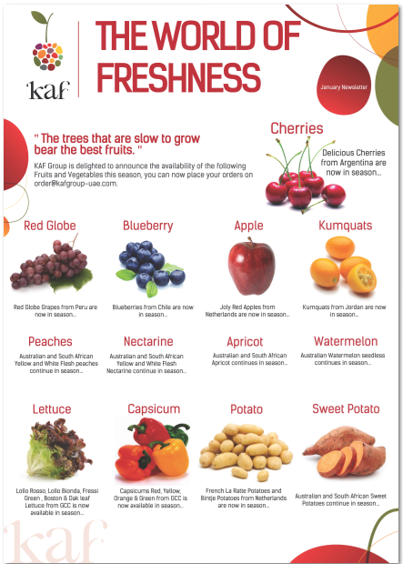 Kaf Group Is Delighted To Announce The Fruits Vegetables Available In Season Welovekaf الخضار والفواكه الم Best Fruits Fresh Fruit Fruits And Vegetables