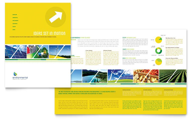 Environmental Conservation Brochure Template Design project - pamphlet layout