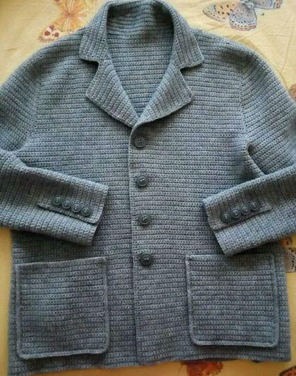 купить или заказать мужской вязаный пиджак в интернет магазине на