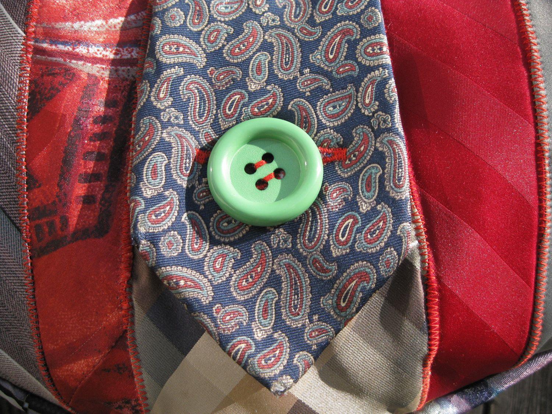 Colorful Recycled Necktie Purse. 65.00, via Etsy. Tie