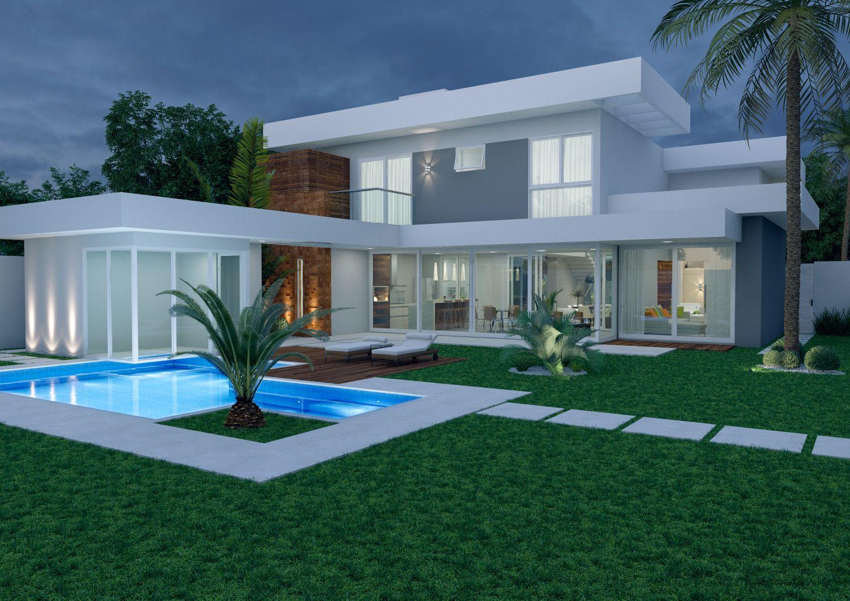 Home fernando farinazzo arquitetura fachadas for Casas de campo modernas con piscina