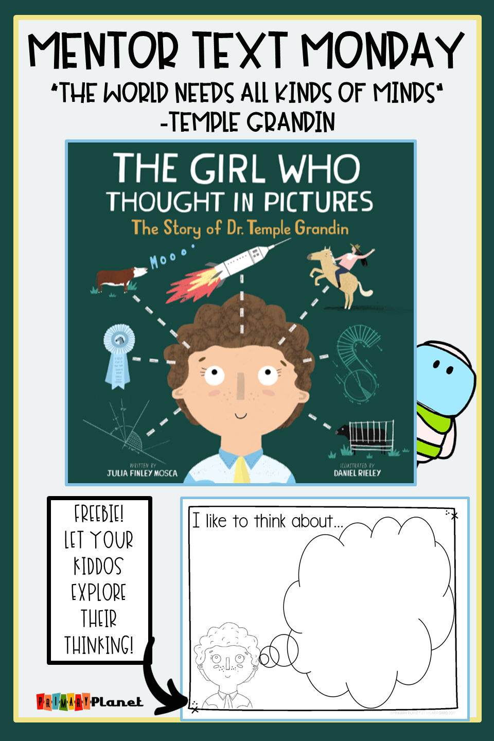 Mentor Text Monday! The Girl Who Thought in Pictures :Meta cognition ...