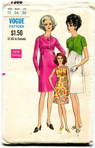 Vogue 7368- high waist, short sleeves