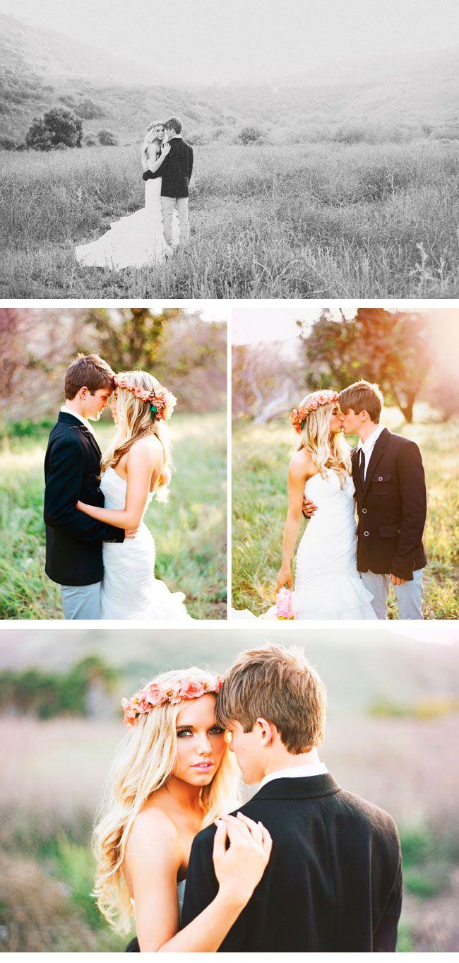 Bohemian wedding sweet young couple eventually wedding