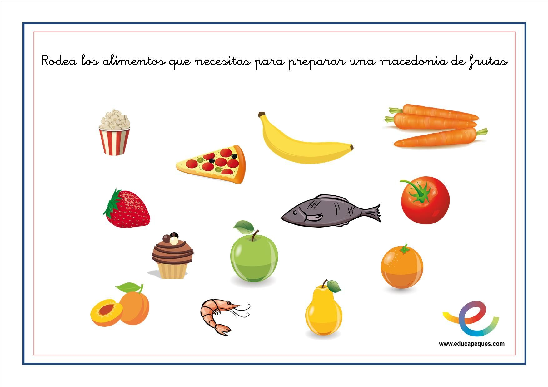 Alimentación niños: Fichas para conocer los alimentos en educación ...