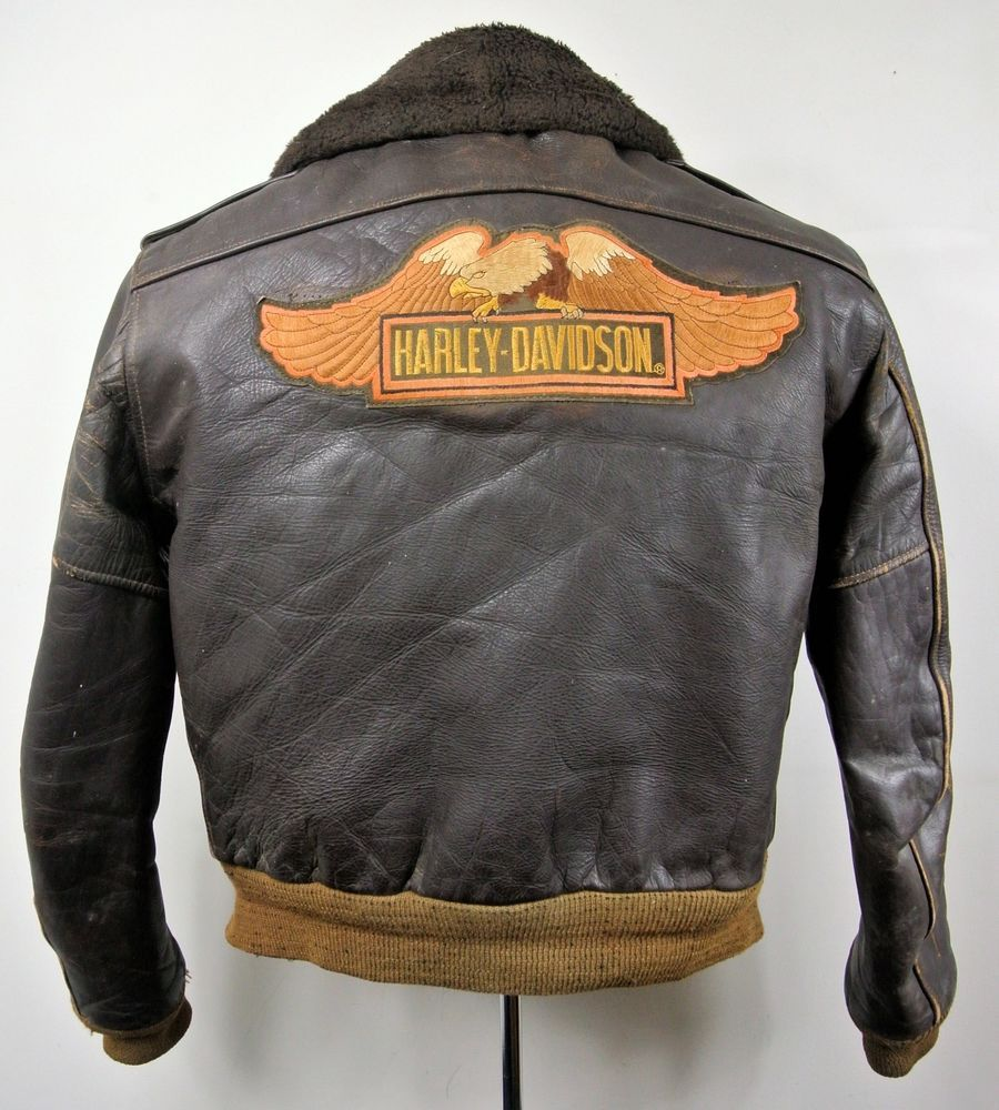 1960's Schott Leather Harley-Davidson Motorcycle Bomber ...