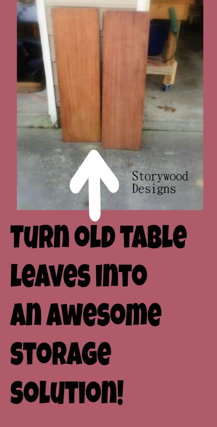 Old Table Leaves Turned Bathroom Storage! #furnitureredos