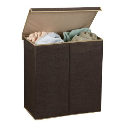 Lowes Laundry Baskets Double Hamper Laundry Sorter With Magnetic Lid Closure  For The