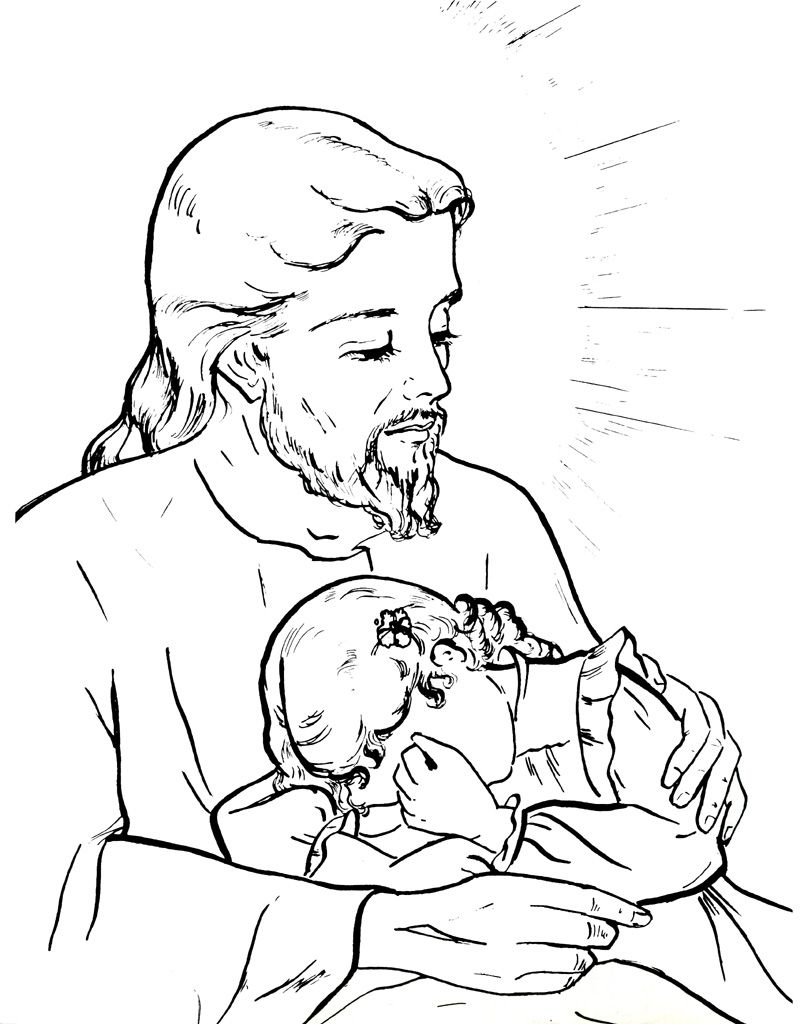 Jesus our comforter Catholic Coloring Page | Catholic Coloring ...