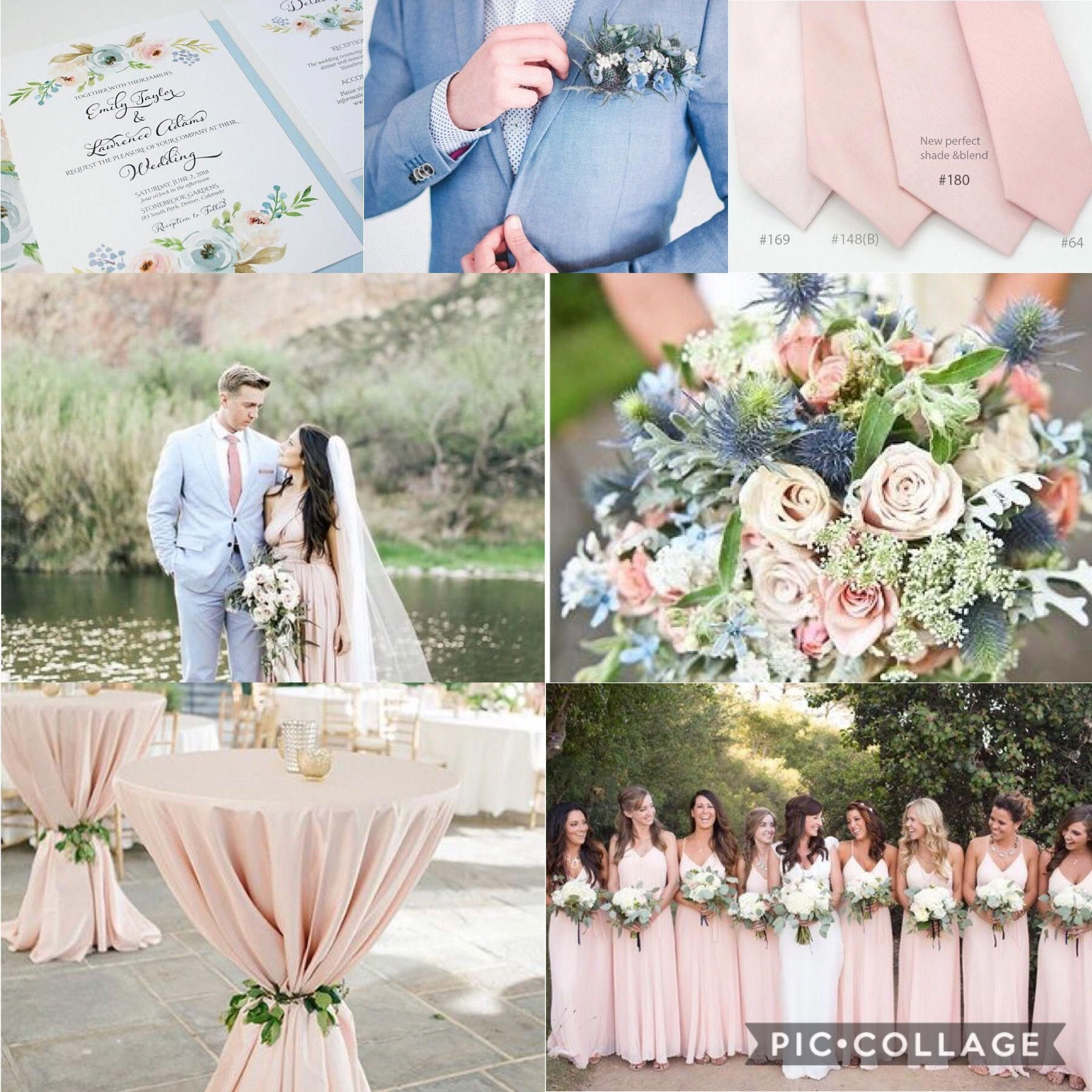 Wedding decorations yellow and white november 2018 Dusty Blue Blush and Green Wedding Colors