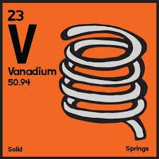 Use on vanadium shirt for atomic attire project sciencewear vanadium the classic periodic table illustrated urtaz Choice Image