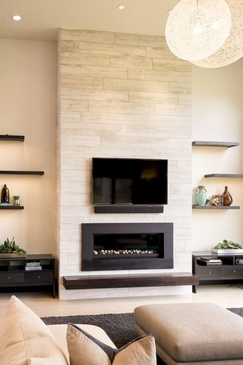 20 Cozy Fireplaces Ideas For Home  Déco mur salon, Idées foyer