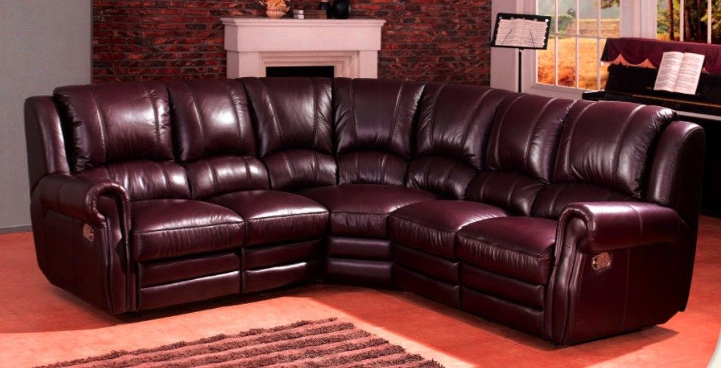 Exceptionnel Windsor Burgundy Leather Corner Sofas