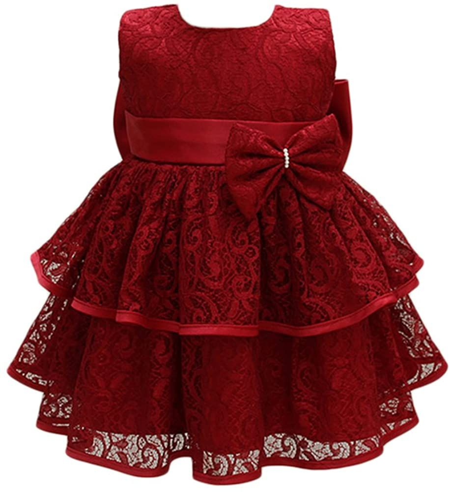 Baby Girls Infant Lace Party Dresses Princess Wedding Birthday