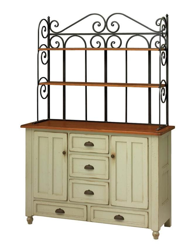 Amish Bedford Bakers Rack Hutch Keystone Collection Now This Is A Baker S