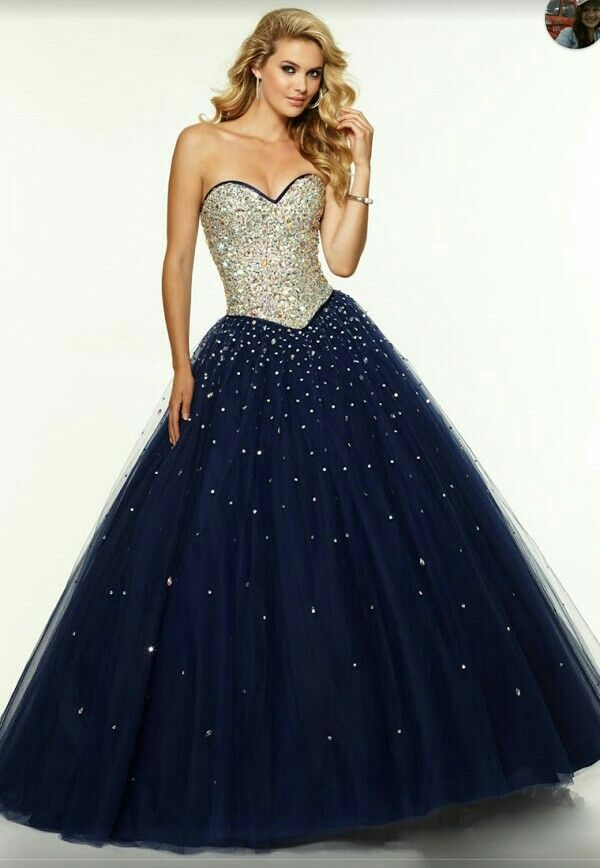 Midnight Blue Ball Dresses Ball Gowns Prom Ball Gown