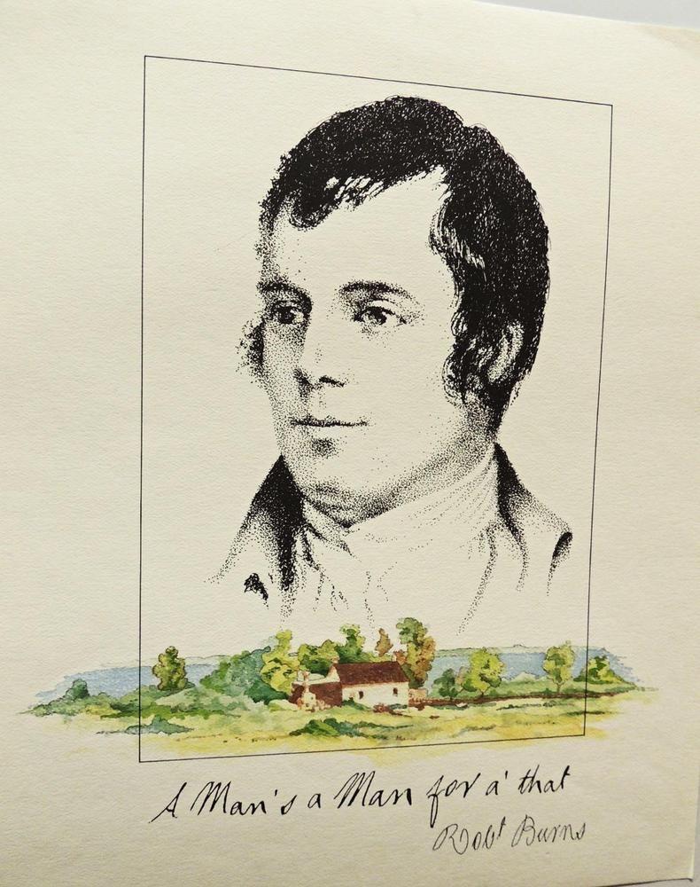 ROBERT BURNS - FINE ART PRINT of FAMOUS SCOTTISH POET 'A ...