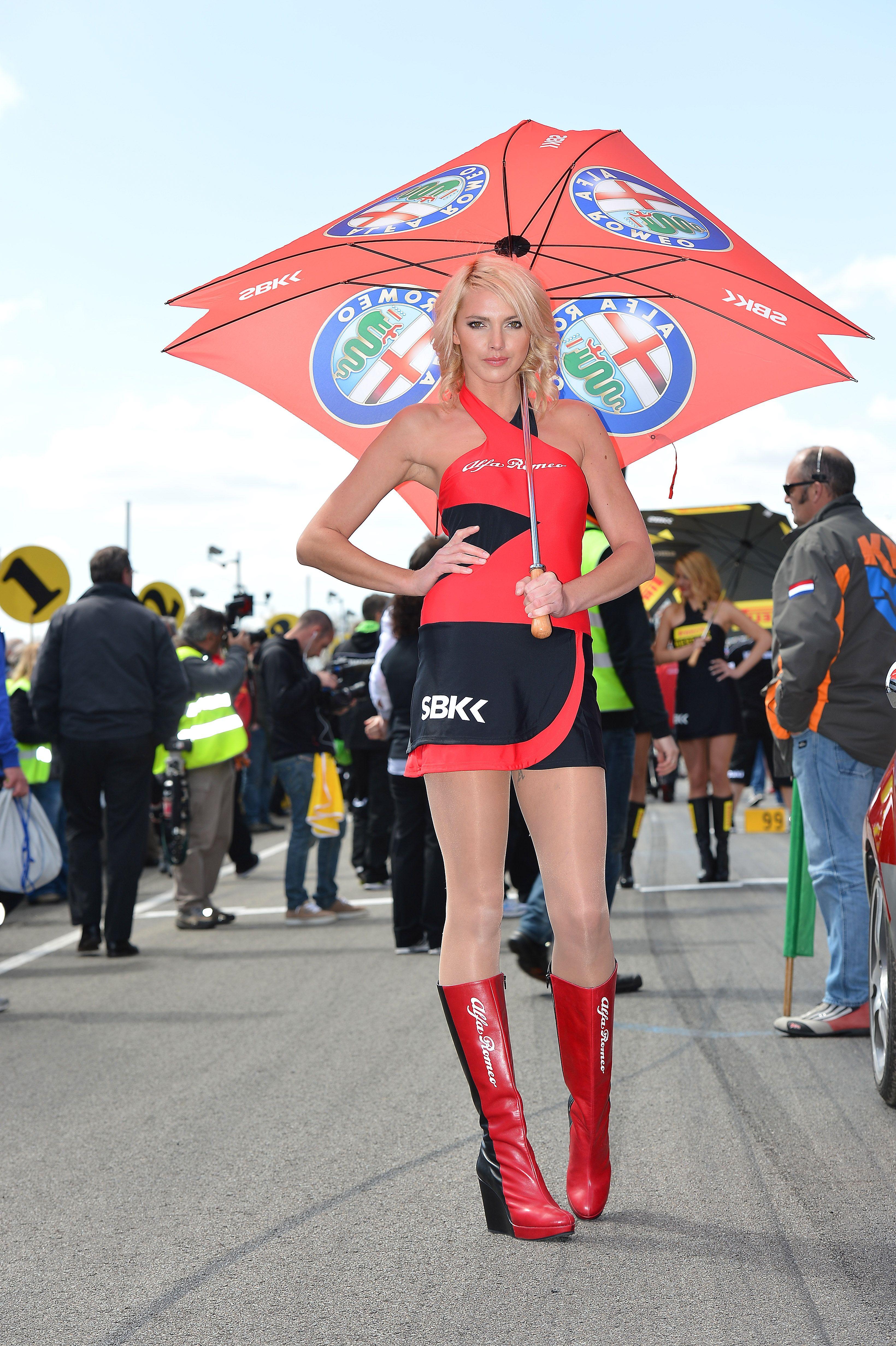 girl #gridgirl #alfaromeo grid girl superbike