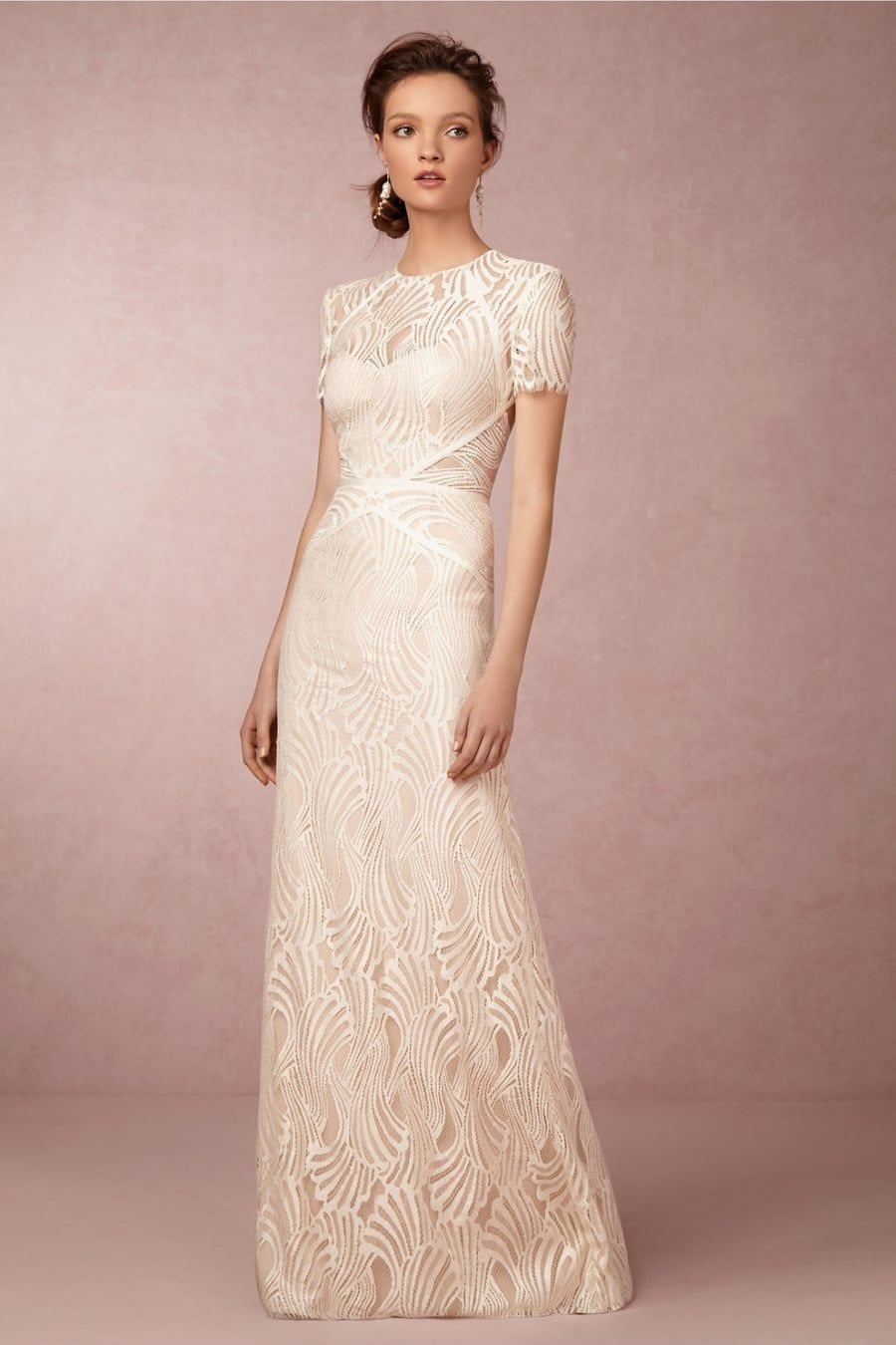 Ivory wedding dresses with sleeves   Wedding Dresses That Stun From   Wedding  Pinterest