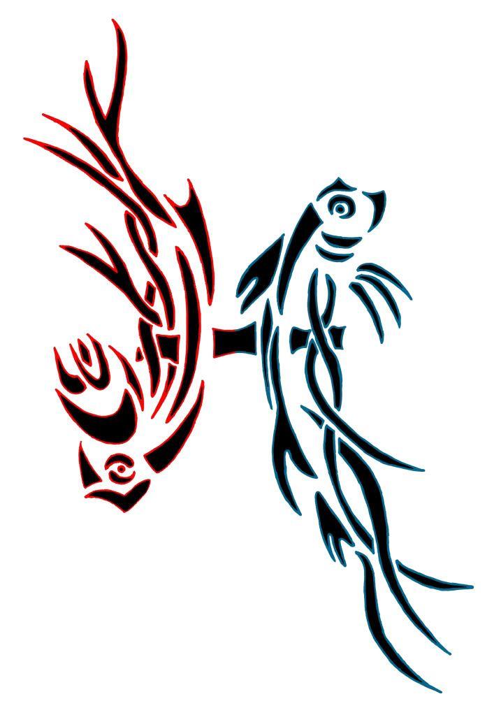 Tribal Design Of Pisces Zodiac Tattoo Inked Pinterest Zodiac