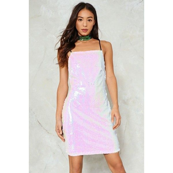 Nasty Gal Sparkle of My Eye Sequin Dress (£27) ❤ liked on Polyvore ...