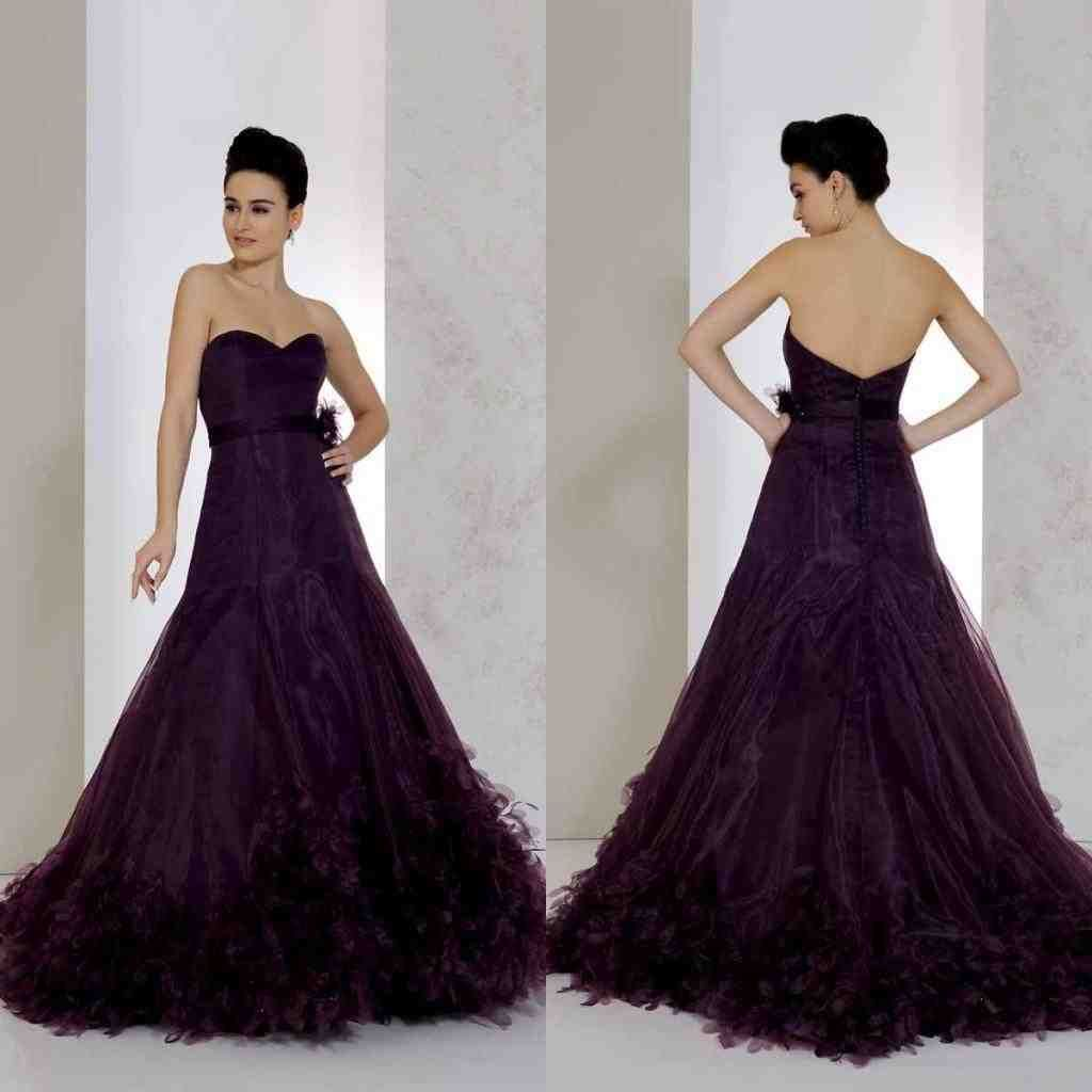 Dark Purple Wedding Dress Purple Wedding Dress Wedding Dress Couture Ruffle Bridal Gown [ 1024 x 1024 Pixel ]