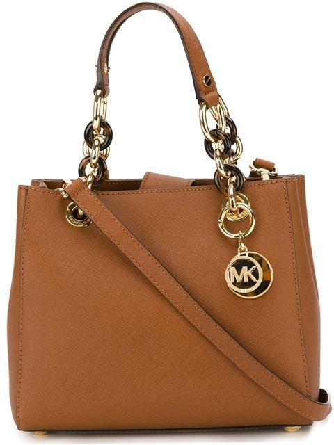 MICHAEL MICHAEL KORS Logo Charm Shoulder Bag.  michaelmichaelkors  bags   shoulder bags  hand bags  leather   9eedc7c3d4e
