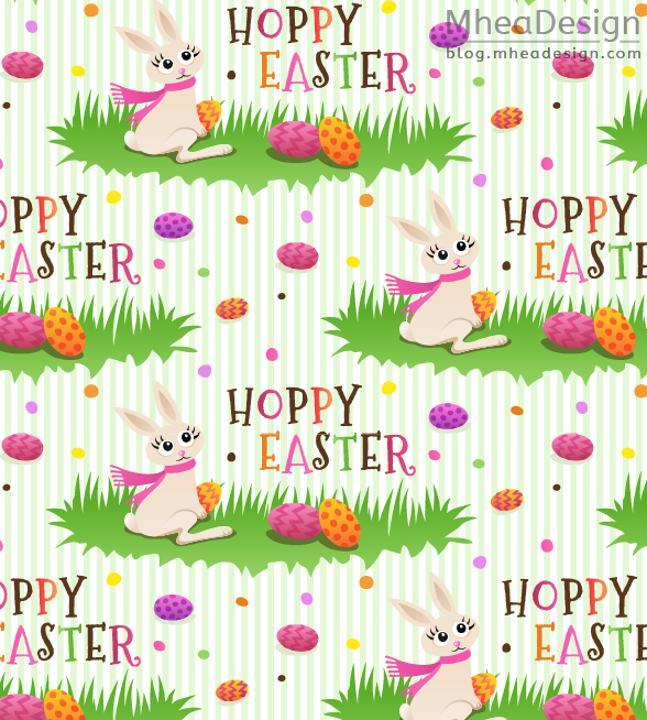 Hoppy easter wrapping paper with cute bunny rabbit and colourful hoppy easter wrapping paper with cute bunny rabbit and colourful eggs bright and fun pattern negle Image collections