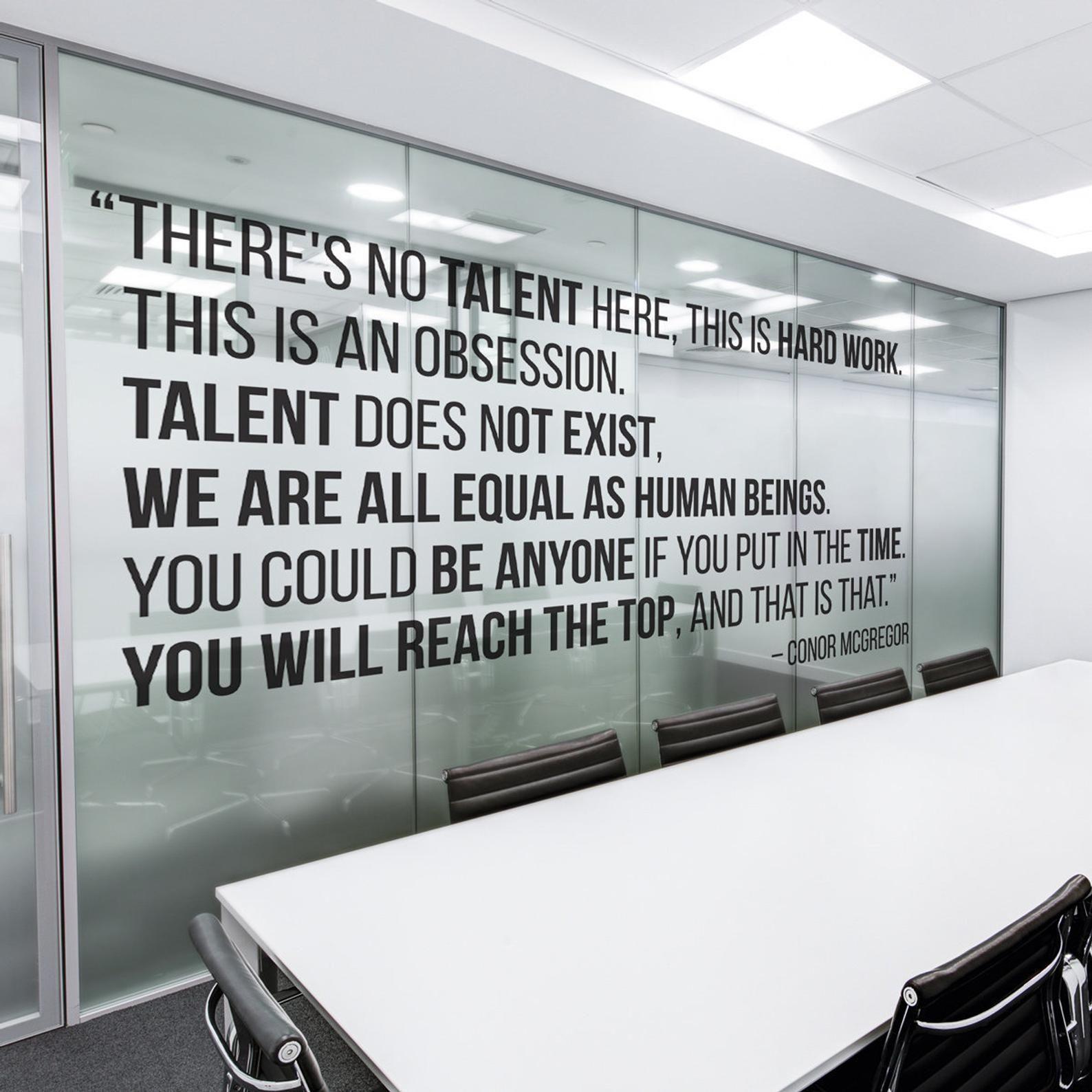 Typography Wall Art Office Decor