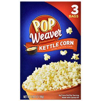 pop weaver kettle corn microwave