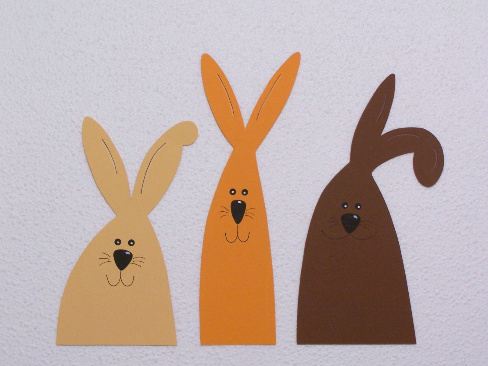 3 window peepers Bunny window decoration Easter cardboard 2 #fensterdekoweihnachtenbasteln