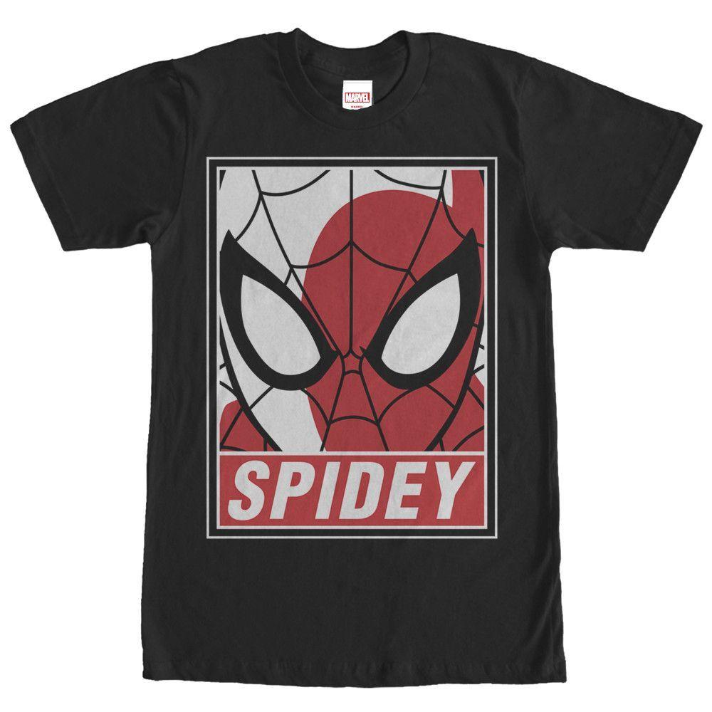 c0f477d4068c Marvel Spider-Man Portrait Black T-Shirt in 2019 | Marvel ...