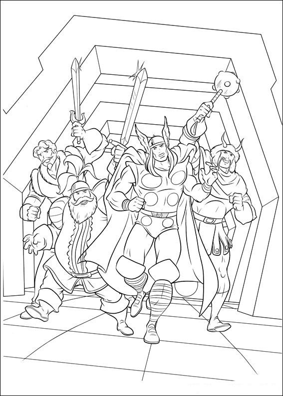 Thor Coloring Pages 14