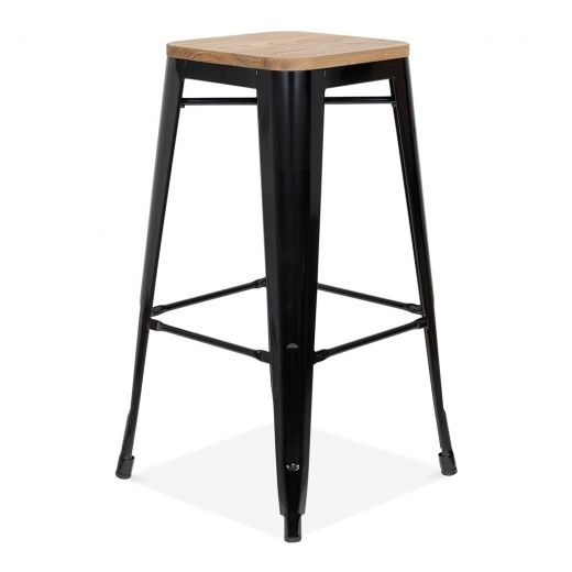 Pleasing Xavier Pauchard Tolix Style Stool With Wood Seat Option Alphanode Cool Chair Designs And Ideas Alphanodeonline