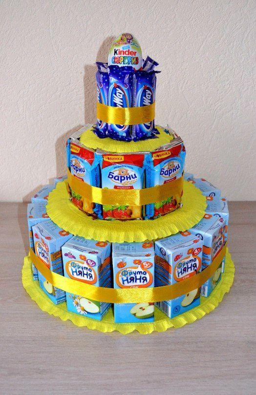 Торт из сладостей своими руками