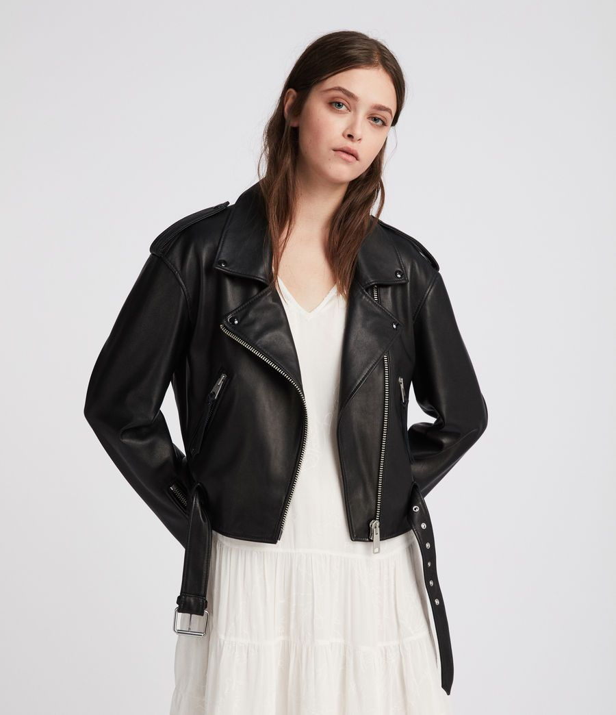 Allsaints New Arrivals Anderson Leather Biker Jacket A New Addition To Our Renowne Leather Jacket Women Fashion Biker Jacket Outfit Women Jacket Outfit Women [ 1044 x 900 Pixel ]