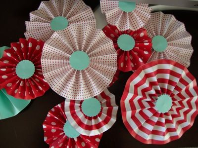 Pinwheels... we used these everywhere!