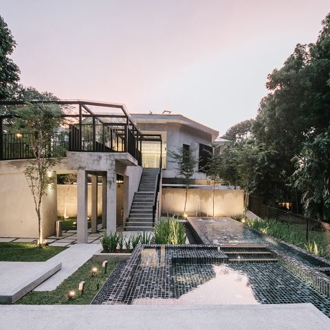 Monochromatic Serenity in Singapore - A boutique hotel in a quiet location in Singapore has been designed by FARM studio with a monochromatic palette and an ethos that instils serenity and sensorial attributes.