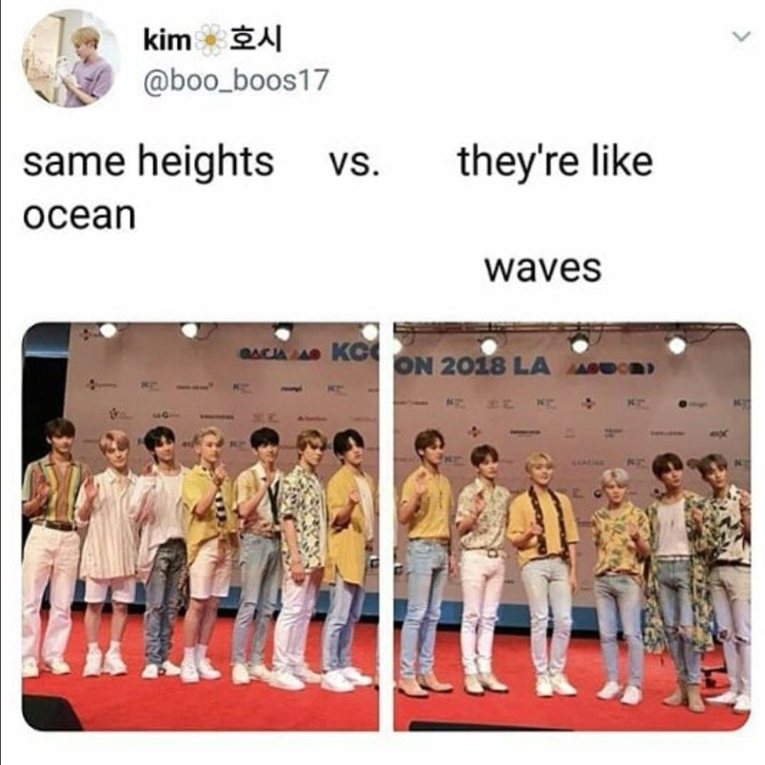 Seventeen S Height Difference Is Iconic Seventeen Kpop Seventeen Woozi Seventeen Memes